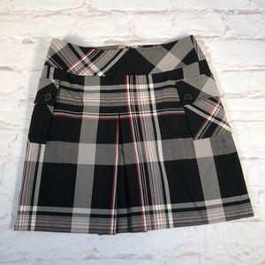 Ann Taylor LOFT plaid stretch skirt.  Size 4